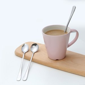 Long Handle Spoon Ice Cream Spoon Stirring Dessert Picnic Pointed  Round Head Teaspoons Drink Tableware Kitchen Tool