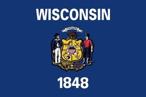3x5 Piedi personalizzato Wisconsin State Flag USA Uniti in poliestere Flag con 2 Metal Grommet