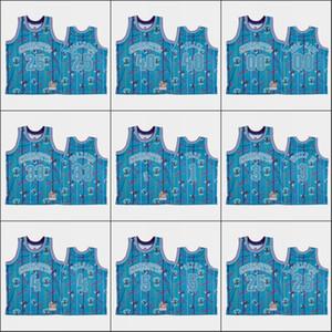 CarlottaHornetsUomini Terry Rozier III Devonte' Graham Cody Zeller P.J. WashingtonStrappo NBA Custom blu Confezione Jersey Up