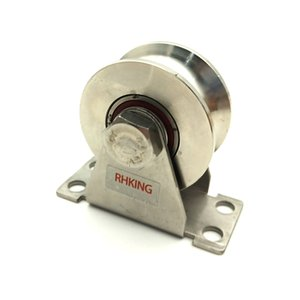 RHKING Groove Wheel Pulley Wheel Stainless Super Silent Detachable Duplex Bearing for home Gym Wire Rope Rail Sliding Gate