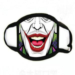 Защитные велосипед Моющегося Запуска Customize Con Hot Proof многоразового Mica Печать Мультфильм лицо Череп езда Ультрафиолетовое Cubrebocas маски aOAXt