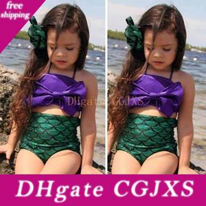 2016 commercio all'ingrosso di coda estate belle ragazze Mermaid Guardare in costumi da bagno ragazze Mermaid balneabile Piscina principessa Costume bambini costume da bagno a due pezzi
