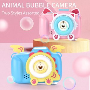 Cute Children Camera Birthday Music Bubble Machine Cat Blow Soap Kids Toys Outdoor Bubbles Maker Bubbler Automatic Gifts Game Cjruj