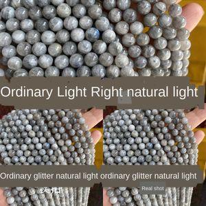 Labradorite naturale rotondo Moonlight Flash feldspato perle naturali Labrador pietra Pino perle tonde perdono Lime lPi6d