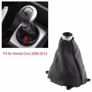 utomobiles & Motorcycles Plastic Rubber Car Manual Gear Gaiter Shift Shifter Boot Replacement for Honda Civic 2006 2007 2008 2009 2010 20...