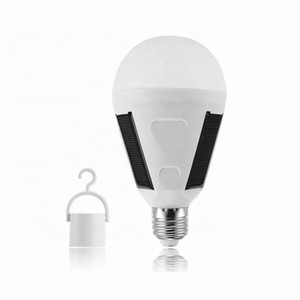 E27 Hanging Solar Energy Rechargeable Emergency LED Bulb Light Daylight IP65 Waterproof Solar Panels Powered Night Lamp 85-265V