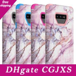 Для Samaung Примечание 9 Case Marble Defender Case 3в1 Heavy Duty Hybrid Полная -Боди Защитная крышка телефона Чехлы для Samsung Galaxy Note 9