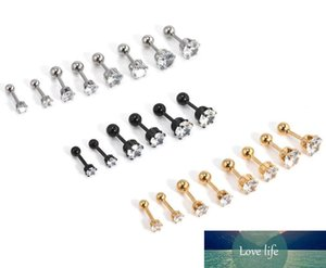 high-quality hot new stainless steel six claw earrings, ear bone nails, nose nail jewelry Punk Nose Rings Stainless Steel Nose Studs 4 Color