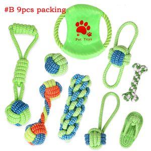 Animali domestici cane cotone mastica knot giocattoli colorato resistente intrecciato corda ossea combinazione abito divertente cane gatto giocattoli