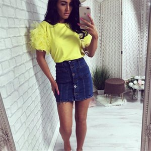Women Boho Summer Tulle Ruffle Short Sleeve T Shirt Lady Casual Blouse Top Shirt T Shirt Lady Loose Casual Blouse Tops