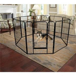 Складные металлические упражнения Penpet Playpen 8-Panel Heavy Duty Hard Dog Point Cat Puppy Pet Упражнения Playpen Внутренний открытый US на открытом воздухе W24101525