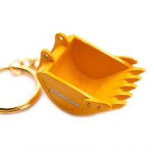 금속 굴삭기 굴삭기 모델 버킷 키 체인 펜던트 액세서리 액세서리 금속 펜던트 선물 PqO0q