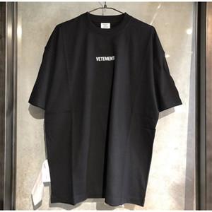 VETEMENTOS 2020 Bordado grande Lavado Etiqueta fuera de las mujeres Camisetas Camisetas Hiphop Hombres de gran tamaño Algodón de algodón T Shirts 0924