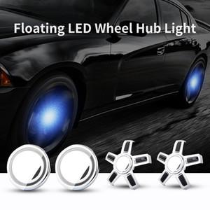 Cubo de rueda de coche ligeras de los casquillos cubierta del centro de Iluminación Iluminación LED Cap flotante bombilla de automoción para Volkswagen VW los 65MM