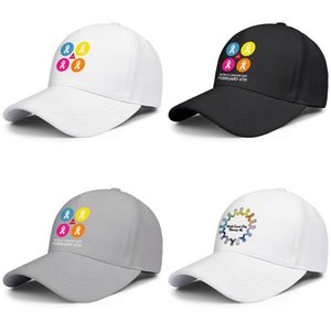 Fashion Baseball Cap World Cancer Day february 4th stop Adjustable Ball Hat Cool Personalized Trucker Cricket for February Color LOGO