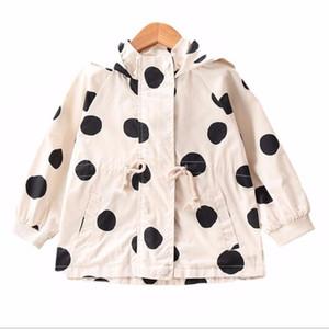 LILIGIRL 2-8 Jahre Jungen Kapuzenjacke Langarm-Mädchen Outwear Mantel für Kinder Kleidung 2020 neue Baby-Kinder-Dot Windbreaker