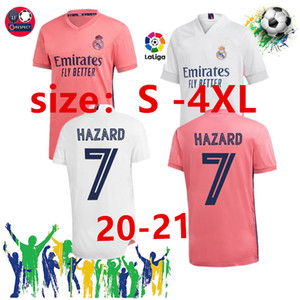 2020 2021 Maior tamanho 2XL 3XL 4XL real madrid futebol Jersey 20 21 Bale # 11 Asensio # 20 PERIGO 7 # ramos sergio # camisas de futebol 4 Patch