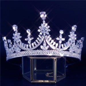 Princess Crown Fashion Trendy Women Bride Wedding Hair Accessories Cubic Zirconia Luxury Hair Jewelry Couronne De Mariage