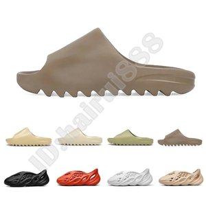 Nuevo Desinger kanye west diapositivas Hombres Mujeres Niños zapatillas zapatillas de deporte Bone Tierra Desert Brown arena de la resina del deslizador de las sandalias de espuma Runner