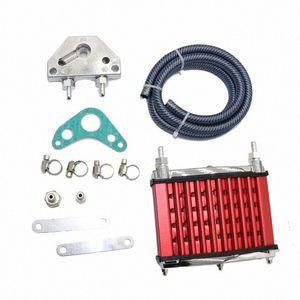 Масляный радиатор Радиатор охлаждения для 50cc 70cc 90cc 110cc 125cc горизонтальный двигатель Dirt Bike / Pit Bike / Обезьяна Велосипед XHdF #