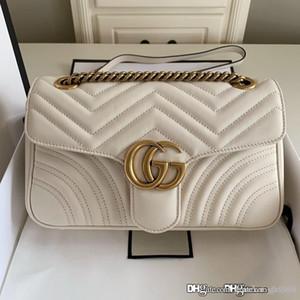 Les nouvelles femmes Marmont petit sac matelassé épaule femmes sac design de luxe sac à bandoulière 443497 mode chaîne croix corps