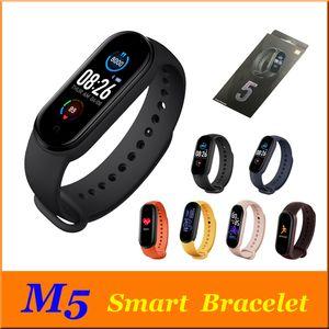 M5 colorido Smart Screen Banda de Fitness Rastreador relógio de pulseira Pressão Ritmo Cardíaco Sangue Smartband Health Monitor Pulseira