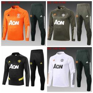 Manchester United 2020 2021 футбол костюм рубашка футбол спортивный костюм 20 21 УТД человек бег трусцой костюм с длинным рукавом