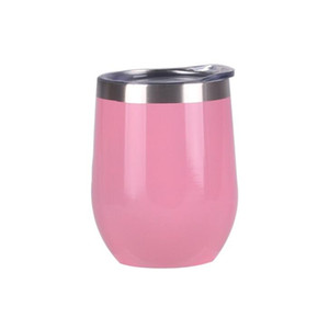 Egg Shaped Mug U-shaped Vacuum Cup Eggshell Champagne Glasses Stainless Steel Tumbler Beer Wine Glass Vacuum Insulated Cups 12OZ DHD1180
