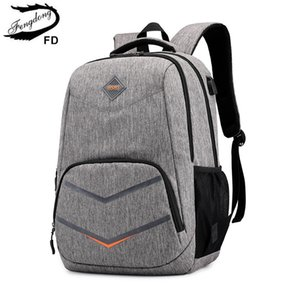 Fengdong sacchetti di scuola superiore per i ragazzi adolescenti viaggiano zaino borsa del computer portatile ragazzo 15.6 bambini sacchetto di scuola ragazzo zainetto zaino carica usb C0927