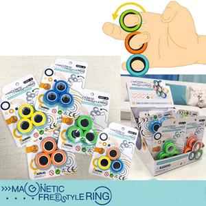Regali di Natale Stress Relief anello magnetico decompressione barretta gioca antistress Spinner per adulti bambini 3Pcs / Set