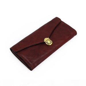 2020 Fashion genuine leather men wallet Leisure women wallet leather purse for men card holders wallet free C6225