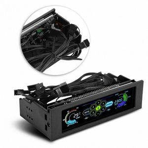 STW PC Computer CPU Cooling LCD visor do painel frontal Temperatura Controlador de velocidade do ventilador Controle para desktop CPU Cooling unidade momh #
