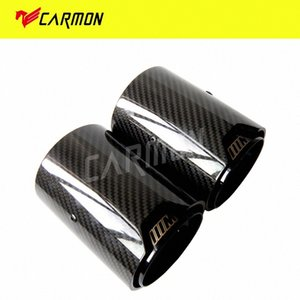 2PCS Real Carbon Fiber Black выхлопная труба глушителя наконечник для M Performance Exhaust M2 F87 M3 F80 M4 F82 F83 M5 F10 M6 F12 F13 5vw0 #