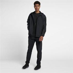 Nouvelle Arrivée Mens Active Mince Jacket Fashion Sport Outwear pour Automne Hiver Spring Windbreaker Black Wither Veste à capuche