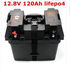 Lifepo4 12.8V 12V 120AH llithium Batterie zyklus für Solare Energiesysteme Inverter Gabelstapler Subwoofer AGV RV + 10A Ladegerät