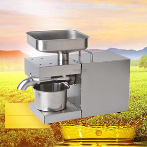 Stainless Steel Oil Presser Cold hot Oil Press Machine 110 220v Flaxseed Oil Extractor peanuts,sunflower seeds almonds