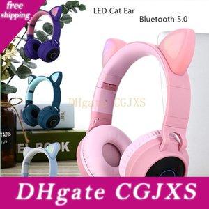 Nouvelle arrivée Led Cat Ear bruit Casques Bluetooth 5 .0 Jeunes enfants Support du casque Tf Carte 3 .5mm Branchez avec micro T191021
