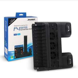 PRO PS4 / PS4 نحيفة / PS4 حامل عمودي مع تبريد تبريد مزدوج المراقب شاحن محطة شحن للبلاي ستيشن 4