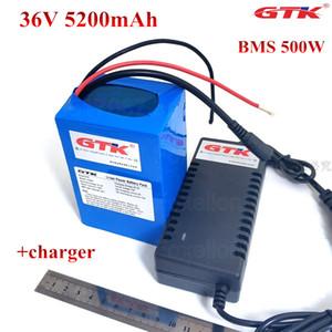 GTK 36V 5200mAh de litio 5.2Ah batería de iones de 18650 10S2P paquete de juguetes de coches 500w de potencia 350w cargador del motor + 42v 2A