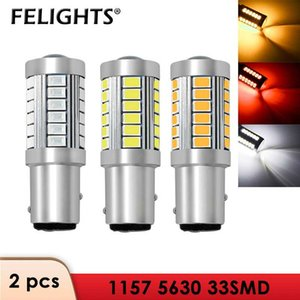 2x 1156 LED Bulb 1157 BAY15D Car Turning Light 33 SMD 5630 5730 Auto Tail Brake Reverse Signal LED Lamp 12V DRL White Red Yellow