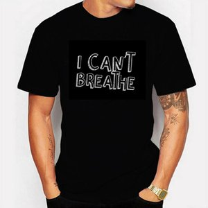 Unisex Men T Shirt Justice for George Floyd I Can't Breathe Artwork Printed Tee basic white cotton clothing for summer Y200603