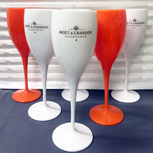 Moet Cups акриловые нерушимые шампанское вино стекло пластиковый оранжевый белый молет Chandon бокал лед Imperial бокал бокал бокал lej200821