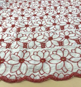 New Coloful Cotton Cloth Embroidered Lace Fabric Width 130cm Handmade DIY Clothes Dress Home Accessories FD05