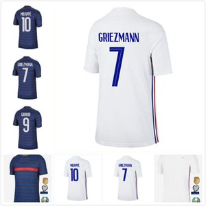 FFF MBAPPE GRIEZMANN POGBA Soccer Jerseys 2020 GIROUD French Pre-match training maillots de foot FRANce KANTE Football shirts