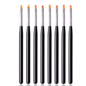 Nail Art brush pen flat drawing paint tips clean dust builder acrylic UV Gel varnish Extension design tools