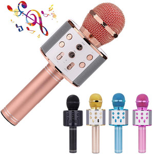 Cgjxsbluetooth Karaoke Microphone Wireless Professional Speaker Portable Handheld Version Mic Ktv Player Phone Mike For Computer Conference