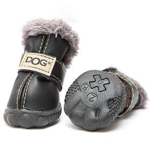 Os cães pequenos Pcs botas de neve impermeável Shoes filhote de cachorro inverno para os produtos Cat Define Pug 4 Leather Dog Chihuahua Aqueça Pet YSIox homes2011