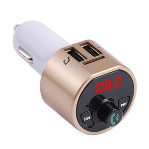 Cgjxs 100pcs caldo A8 Wireless In -Car Hands-Free Calls Usb Fm Transmitter Bluetooth Radio Car Adapter Kit Nero Mp3 Player DHL caricano libero