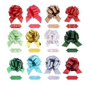 Buon Natale del nastro 12pcs fai da te Buon Natale Matrimonio festa di compleanno di Bowknot regalo Nastri degli archi del fiore Gift Wrapping Props Ornamenti OWD748