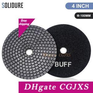 2pc / Lot 100 mm Schwarz Buff Polierauflagen für das Polieren Granit, Marmor und Engineered Stone